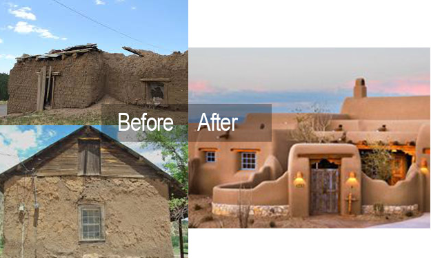 before and after of a home exterior
